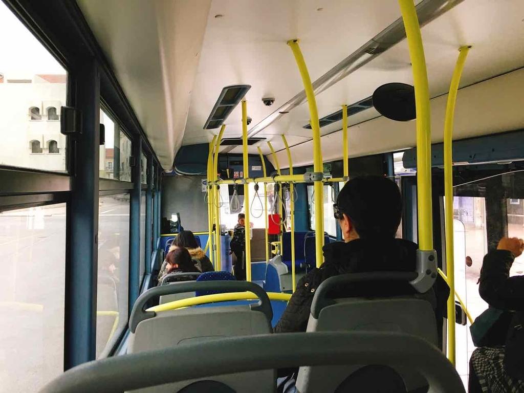クロアチア・スプリットのバスの様子