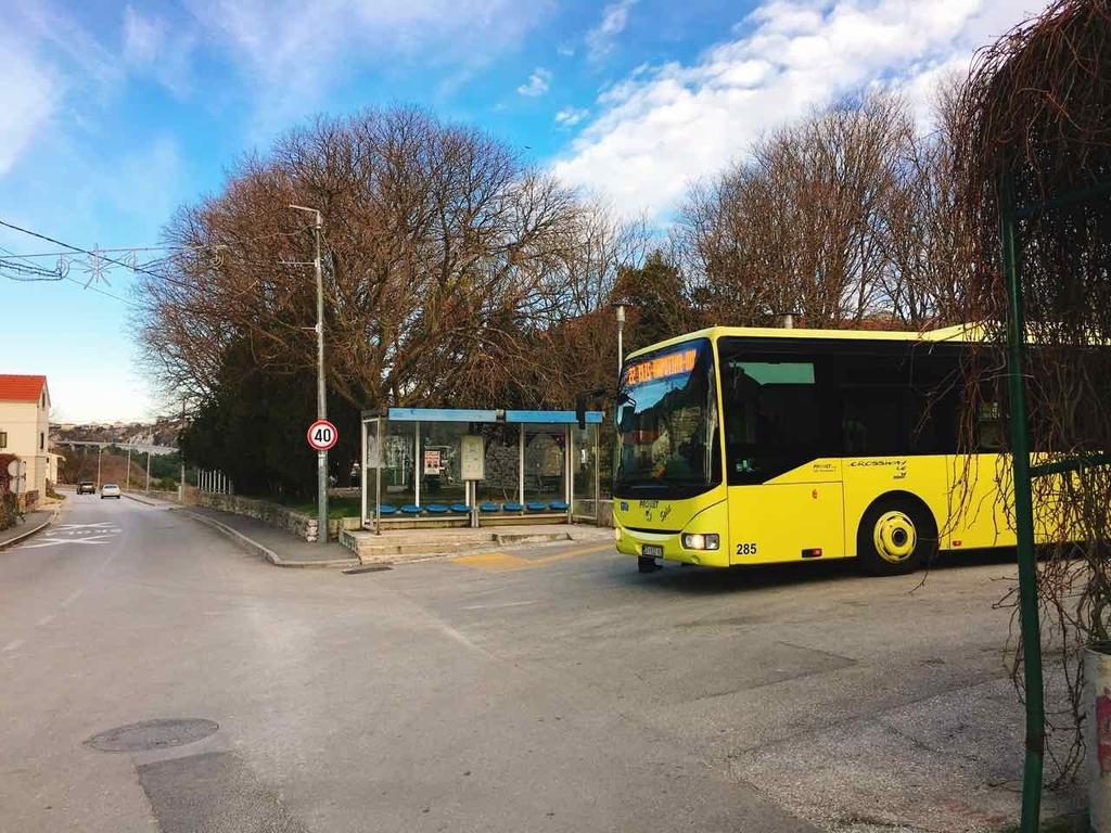 クロアチア・スプリットのバス