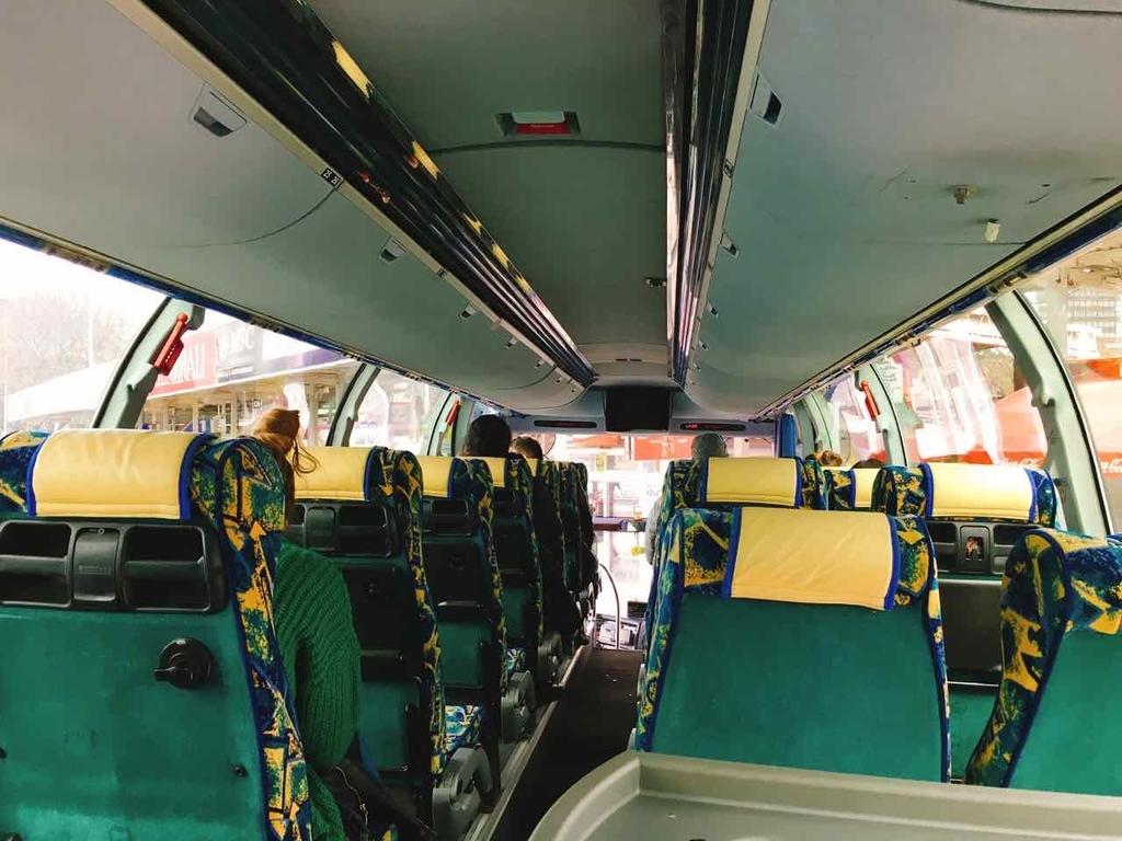 スプリット発ドブロブニク行きのバス