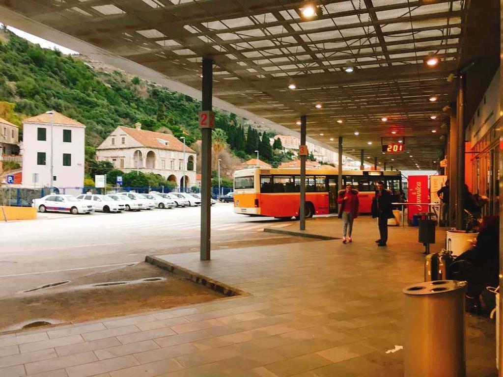 ドブロブニクのバスターミナル