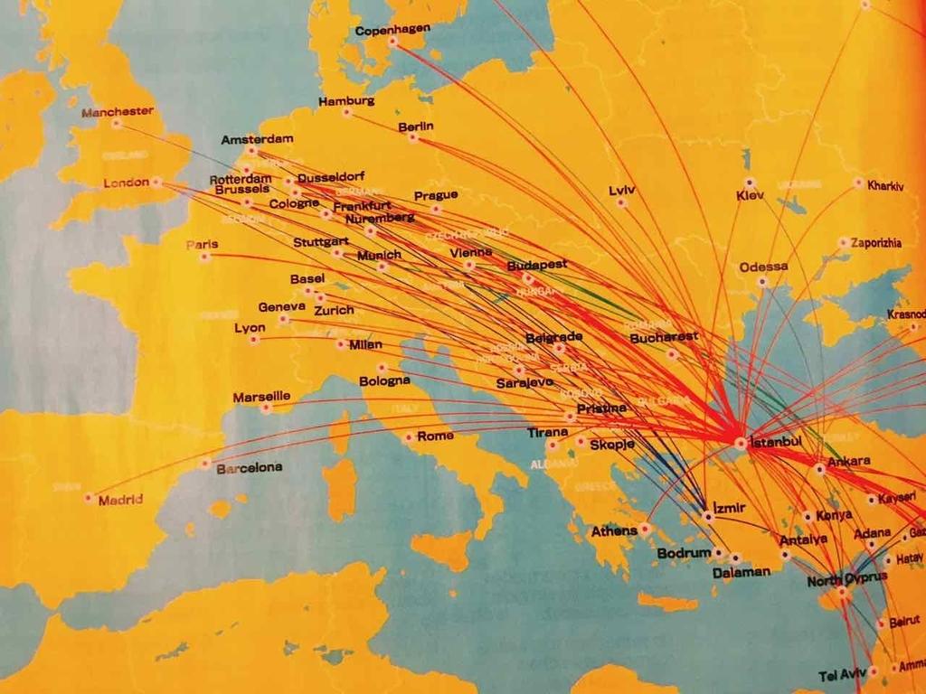 ペガサス航空の路線