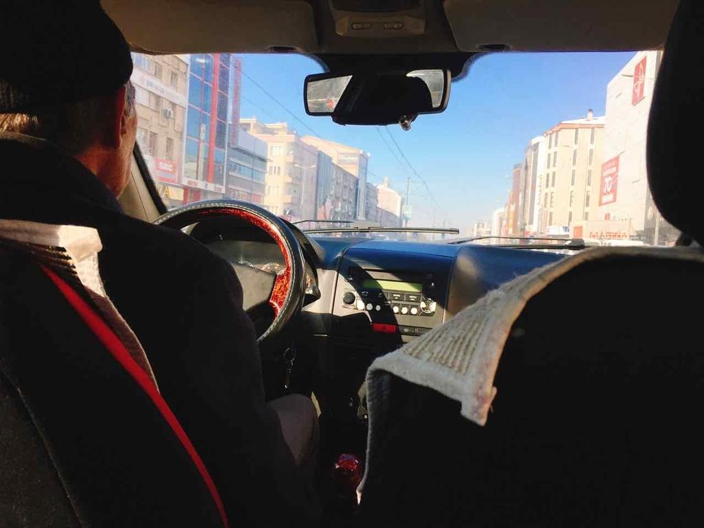 カイセリ市内のタクシー