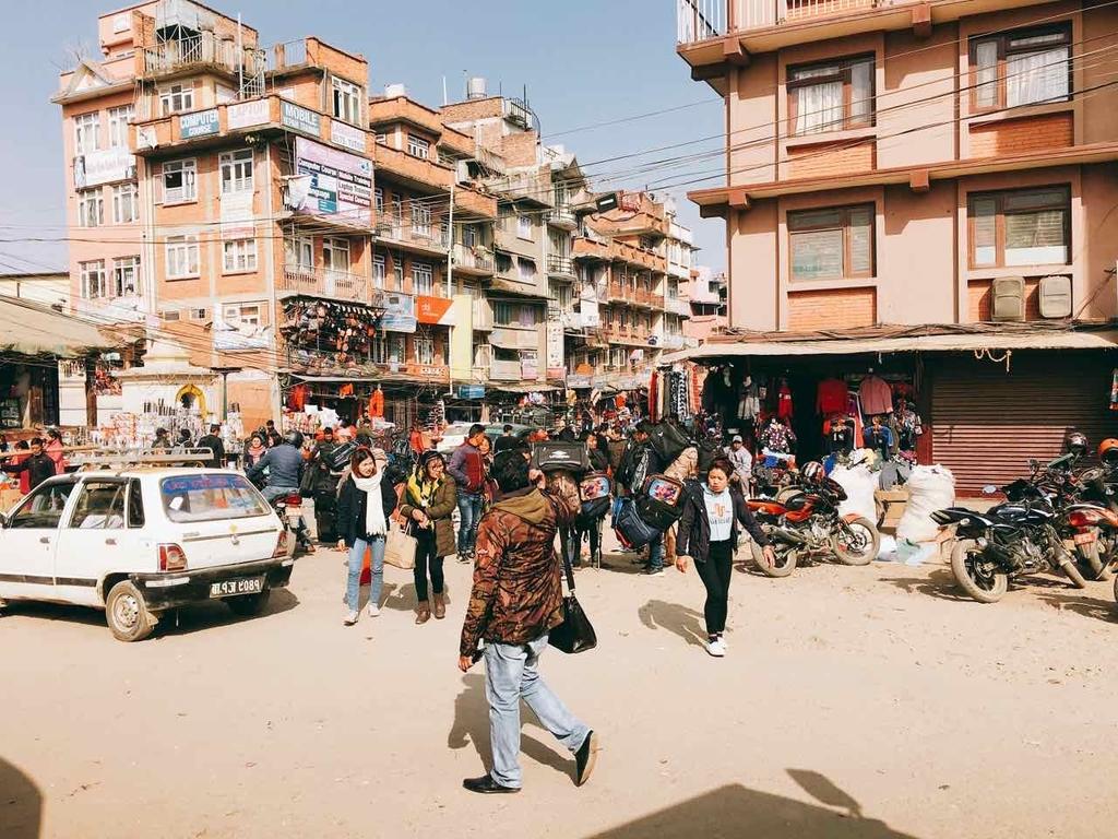 ネパール 街並み