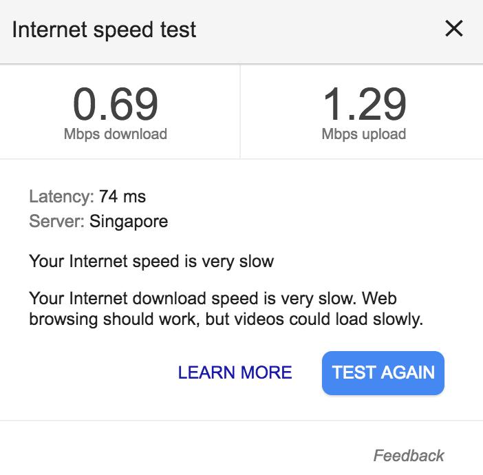 WiFi スピード