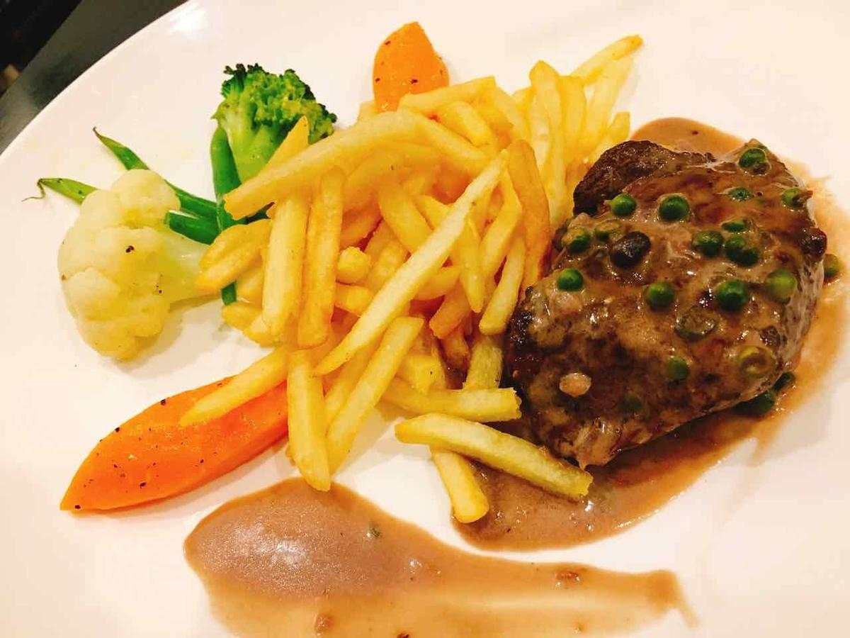 カンボジア 牛ステーキ