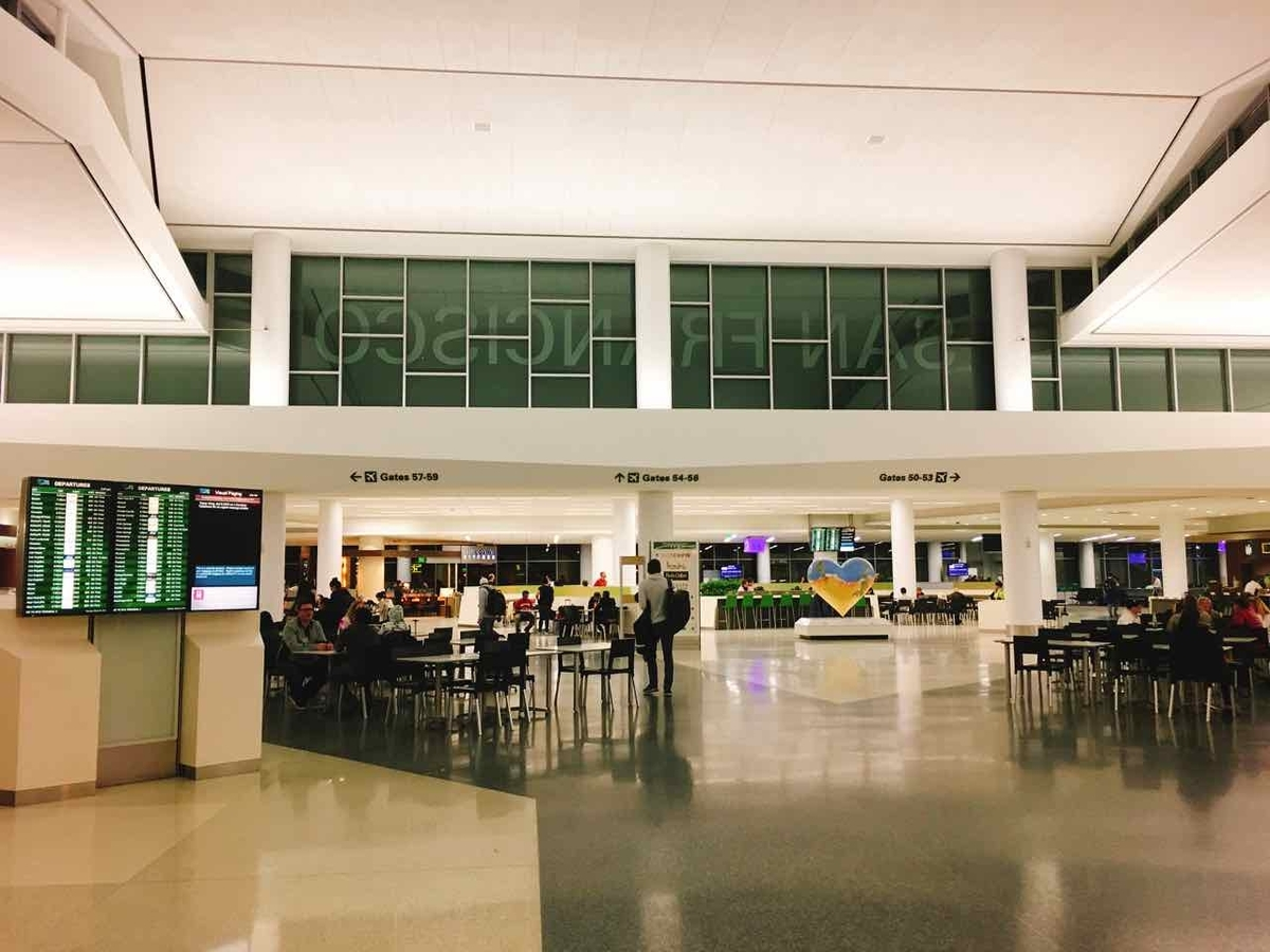 サンフランシスコ空港 フードコート