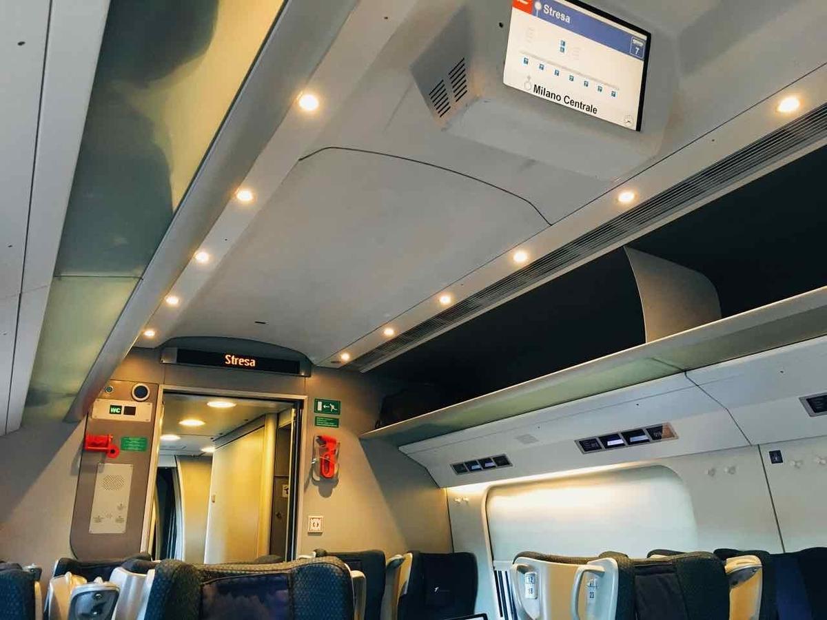 スイス鉄道 車内の様子