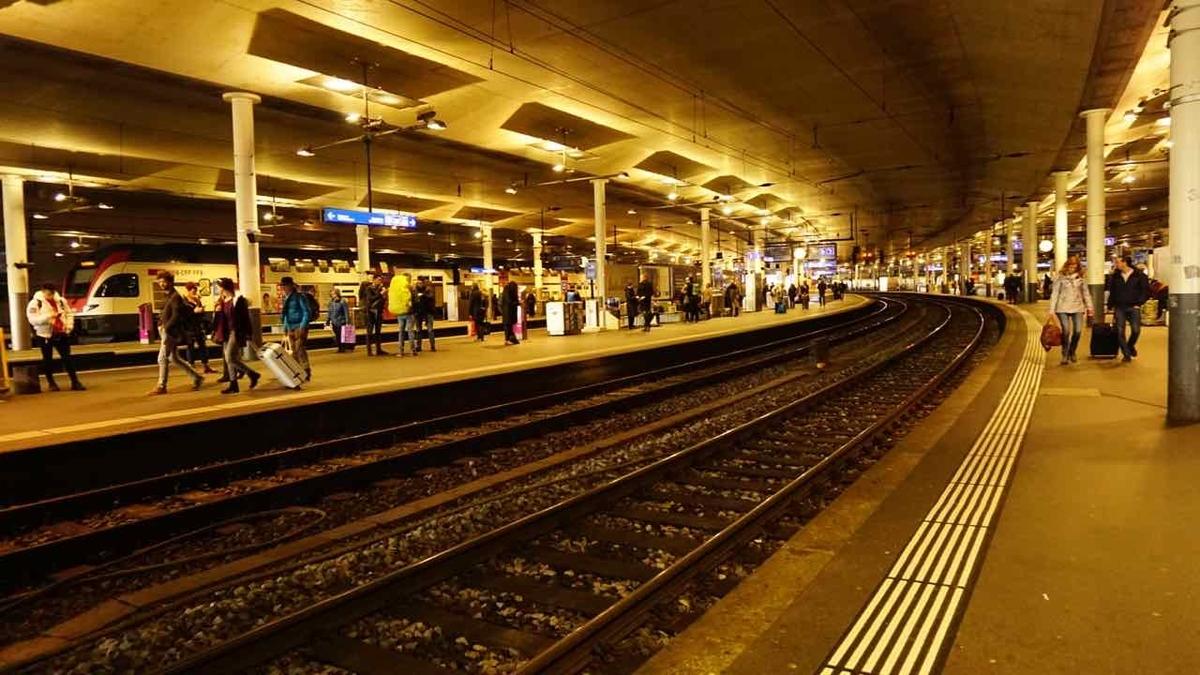 スイス鉄道 プラットフォーム
