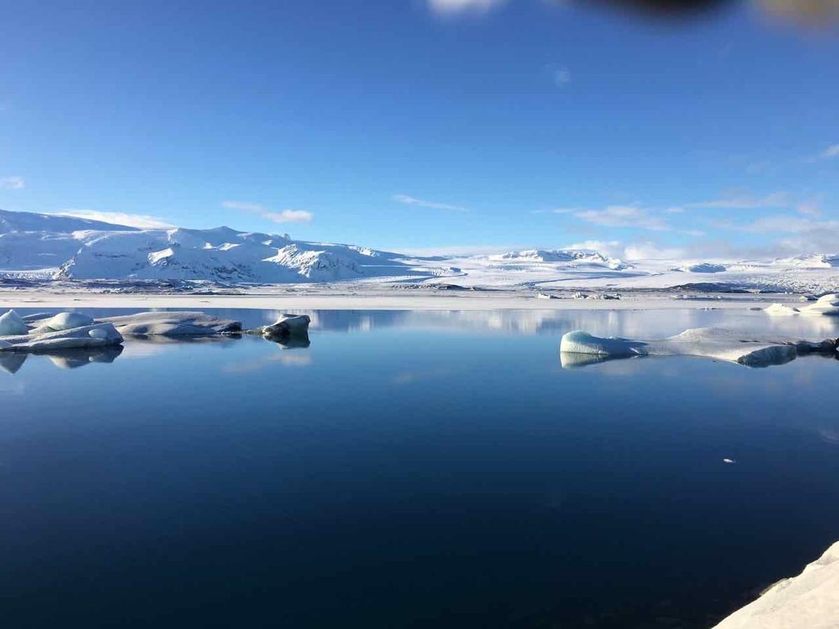 アイスランド 氷河湖