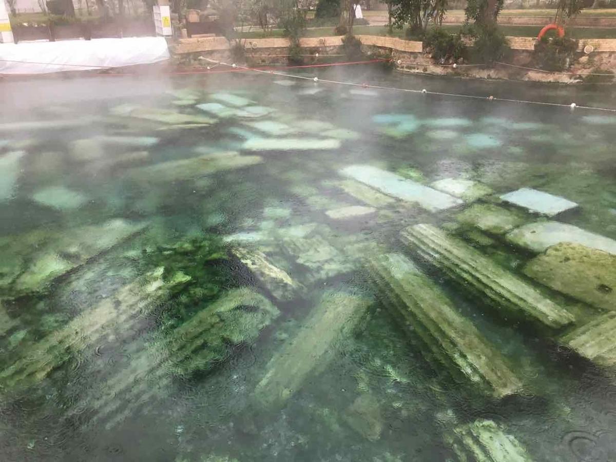 トルコ パムッカレ 温泉