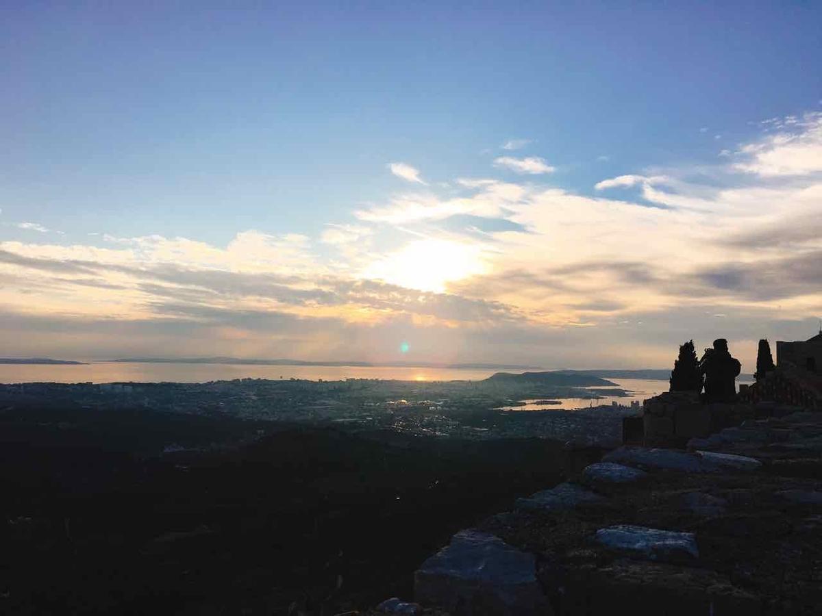 スプリット クリスの要塞 夕日