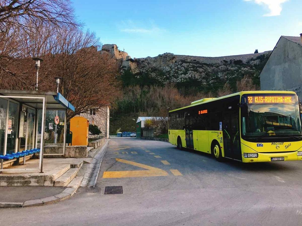 クロアチア スプリット クリスの要塞 バス停