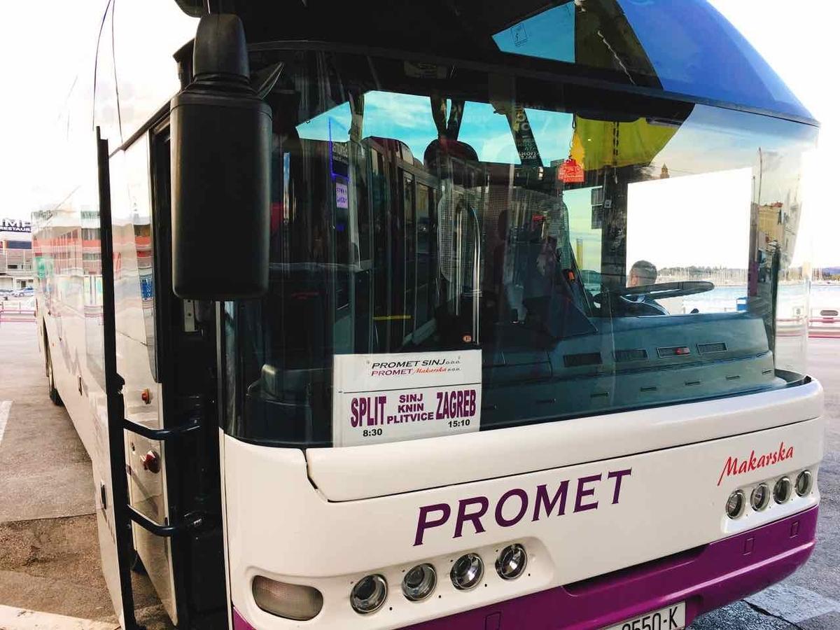スプリット発 プリトヴィツェ公園行きバス