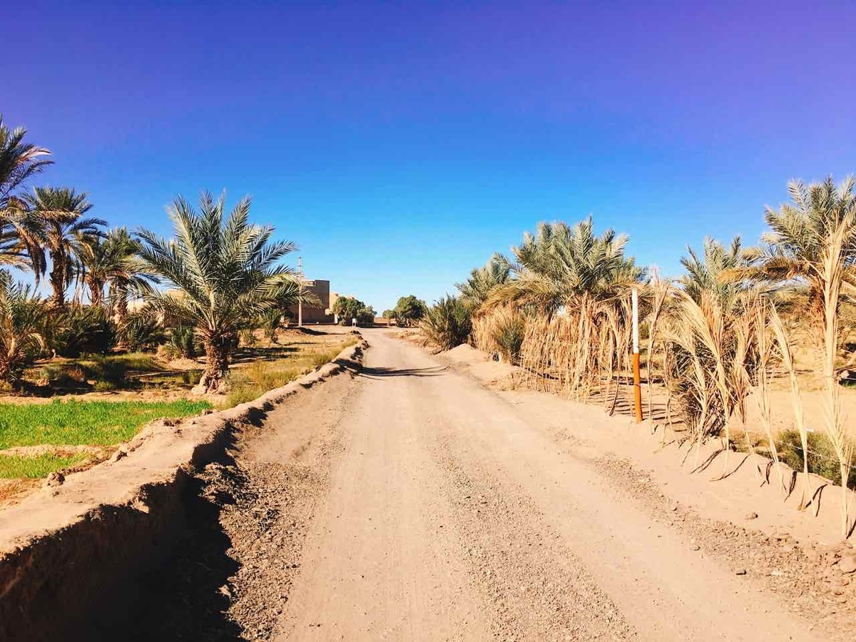 モロッコ メルズーガ 街の様子