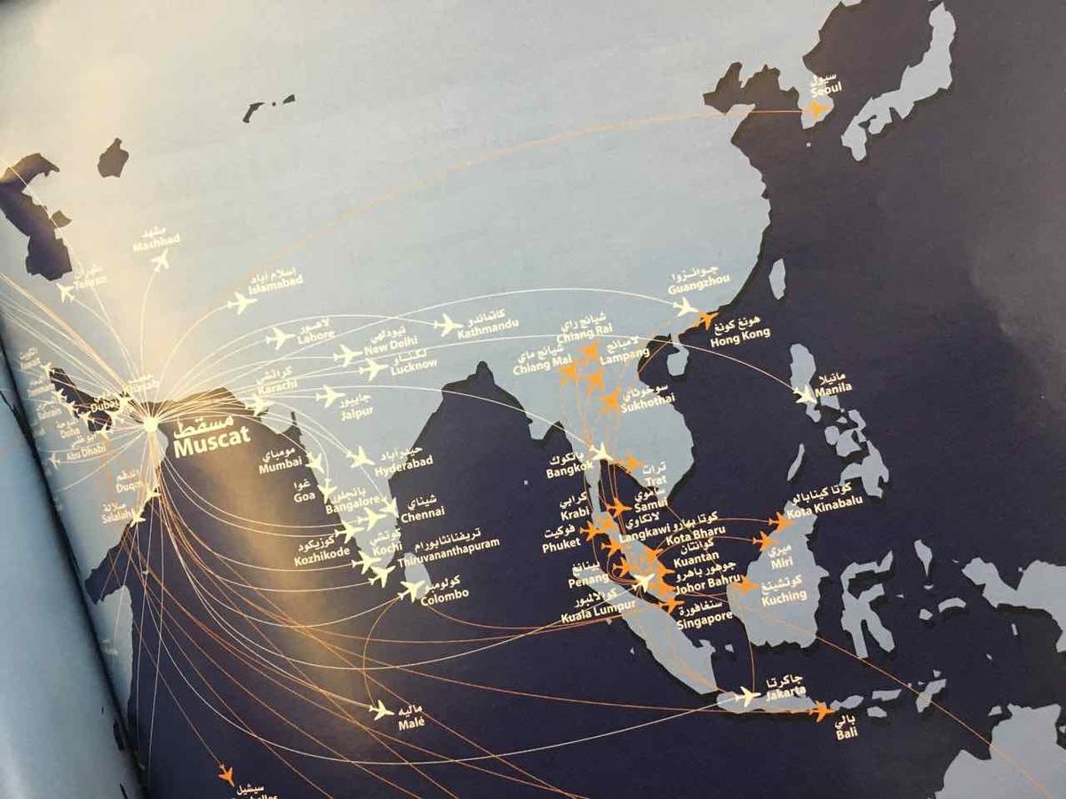 オマーン航空 路線図
