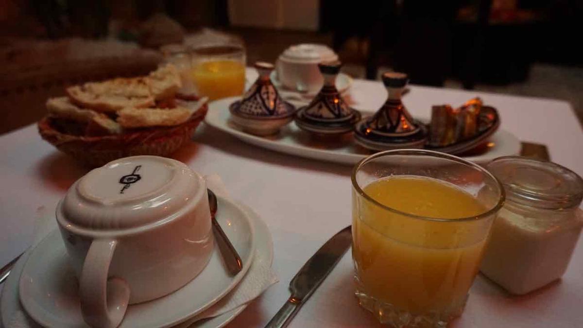 モロッコ マラケッシュ 朝ごはん