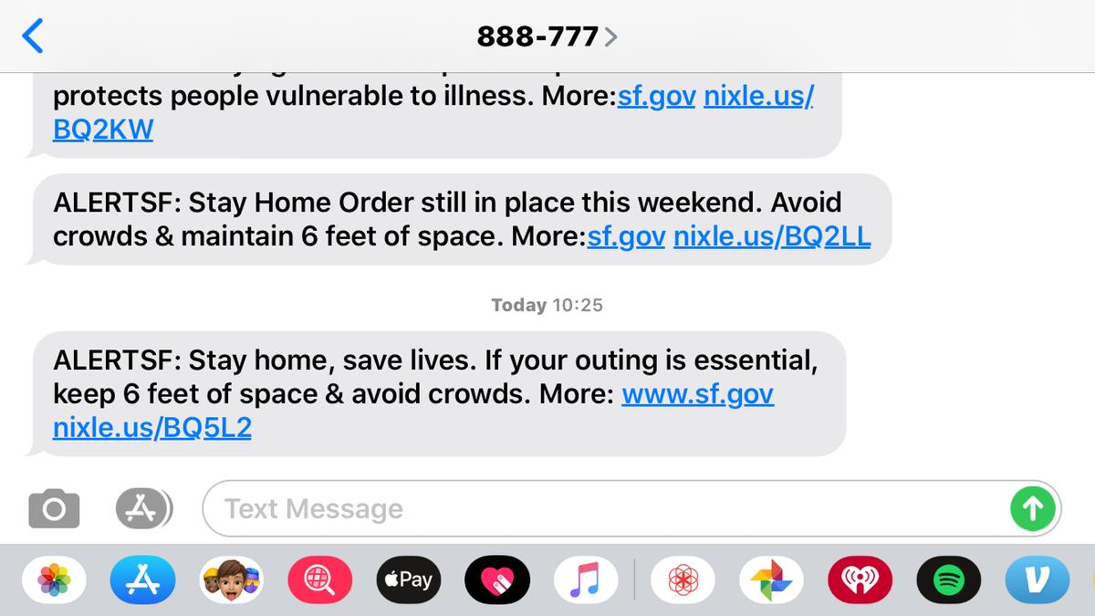 サンフランシスコ市からのコロナウイルス警報