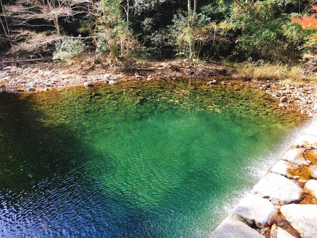神戸 青い池