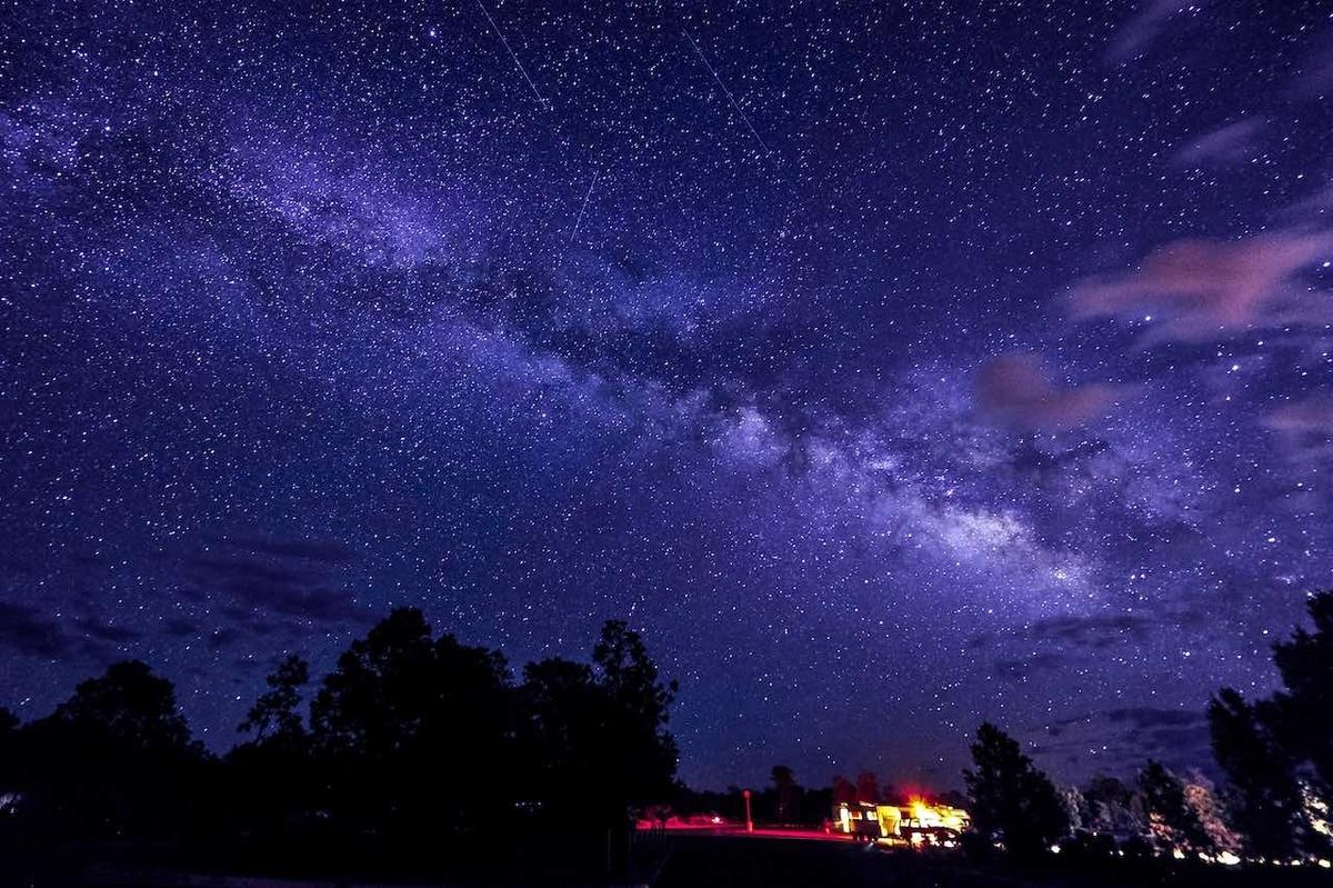 グランドキャニオンの星空