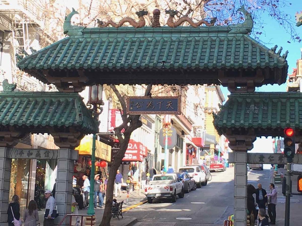 サンフランシスコ チャイナタウン Dragon's Gate