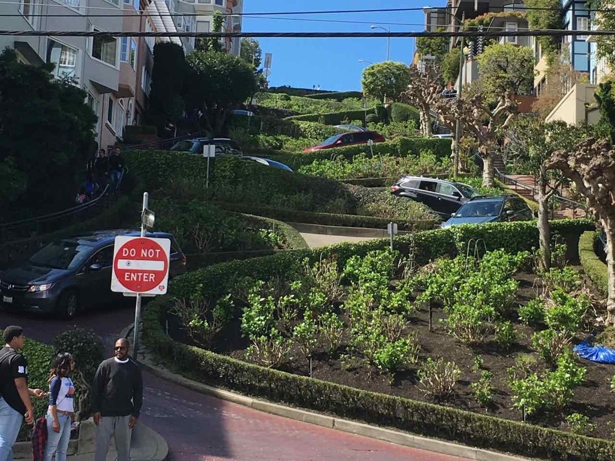 サンフランシスコ ロンバードストリート