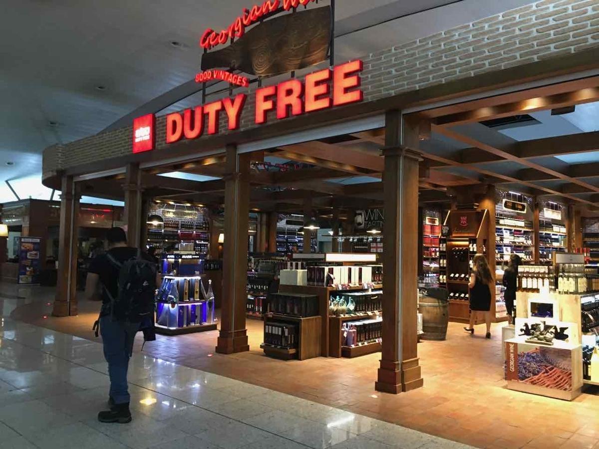 ジョージア・トビリシ空港の免税店