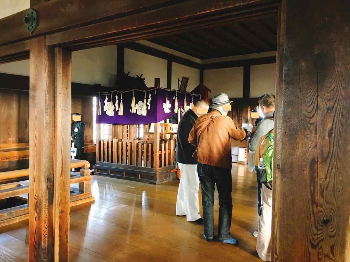 姫路城 最上階