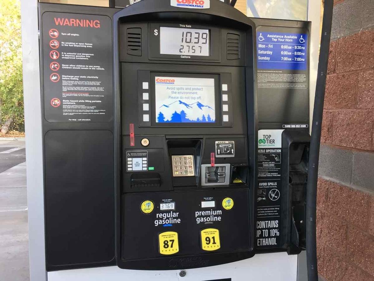 アメリカ ガソリンの給油