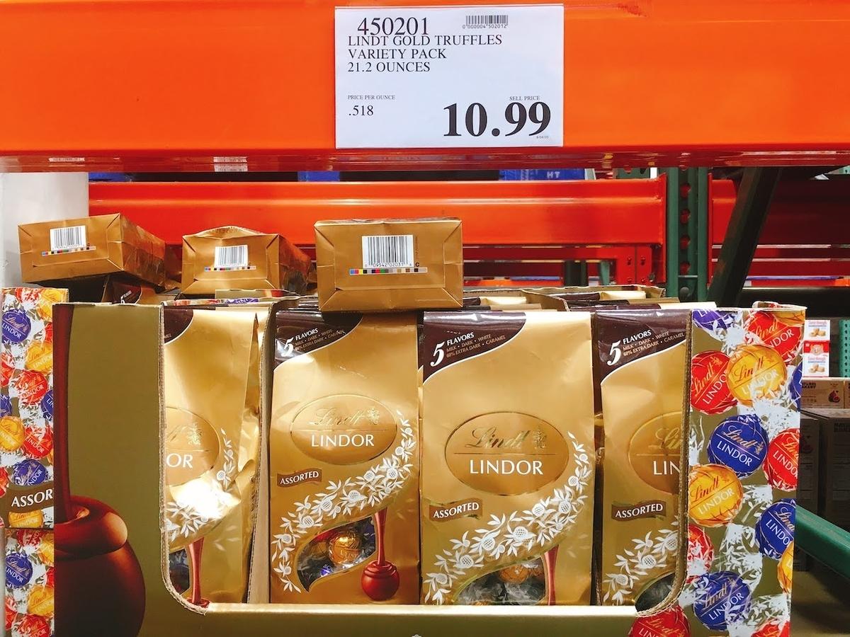 コストコで買えるリンツチョコレート