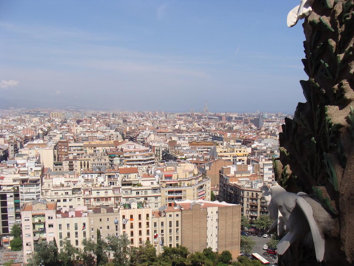 サグラダ・ファミリアからの眺め