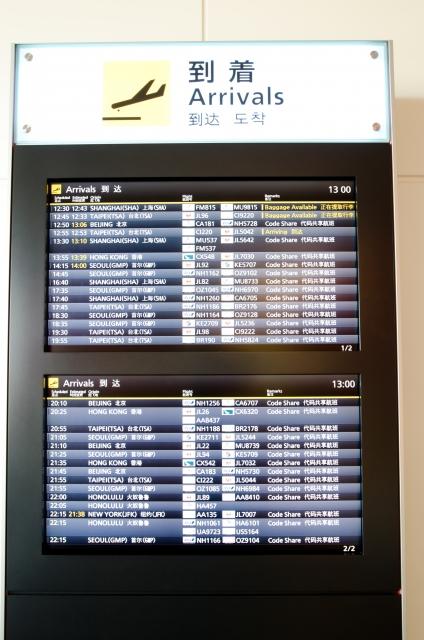 空港でよくみる案内板
