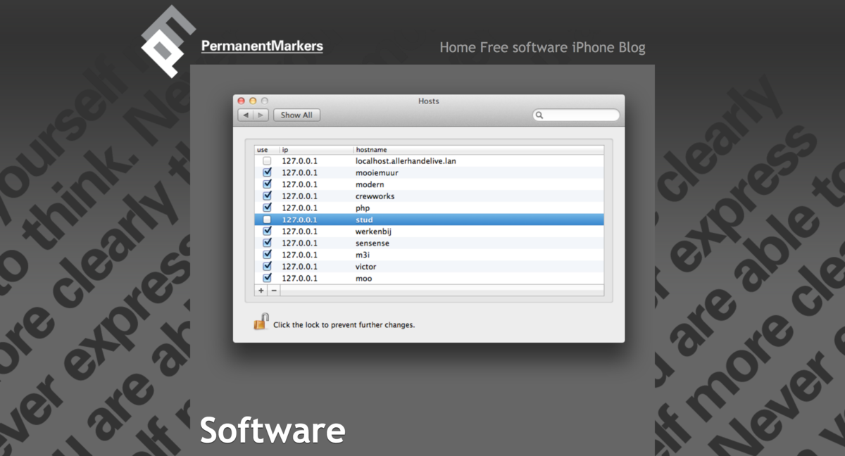 Macのhosts編集(ホスト名とIPアドレスの対応付け)に便利なアプリ「Hosts」