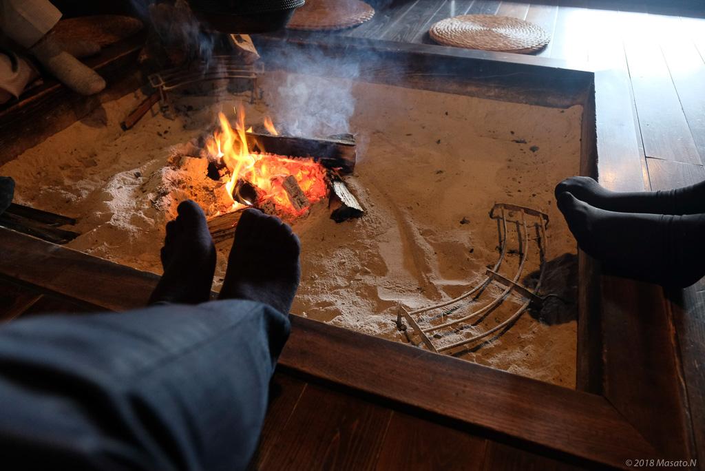 足を温めた写真
