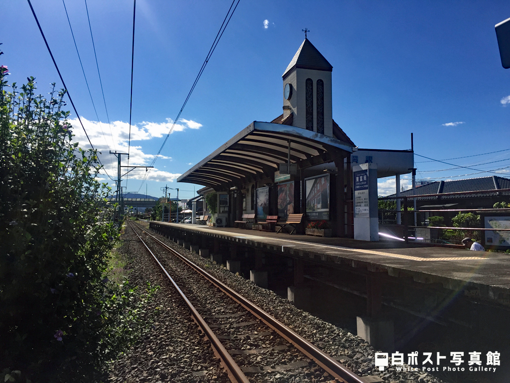 上信電鉄東富岡駅ホーム
