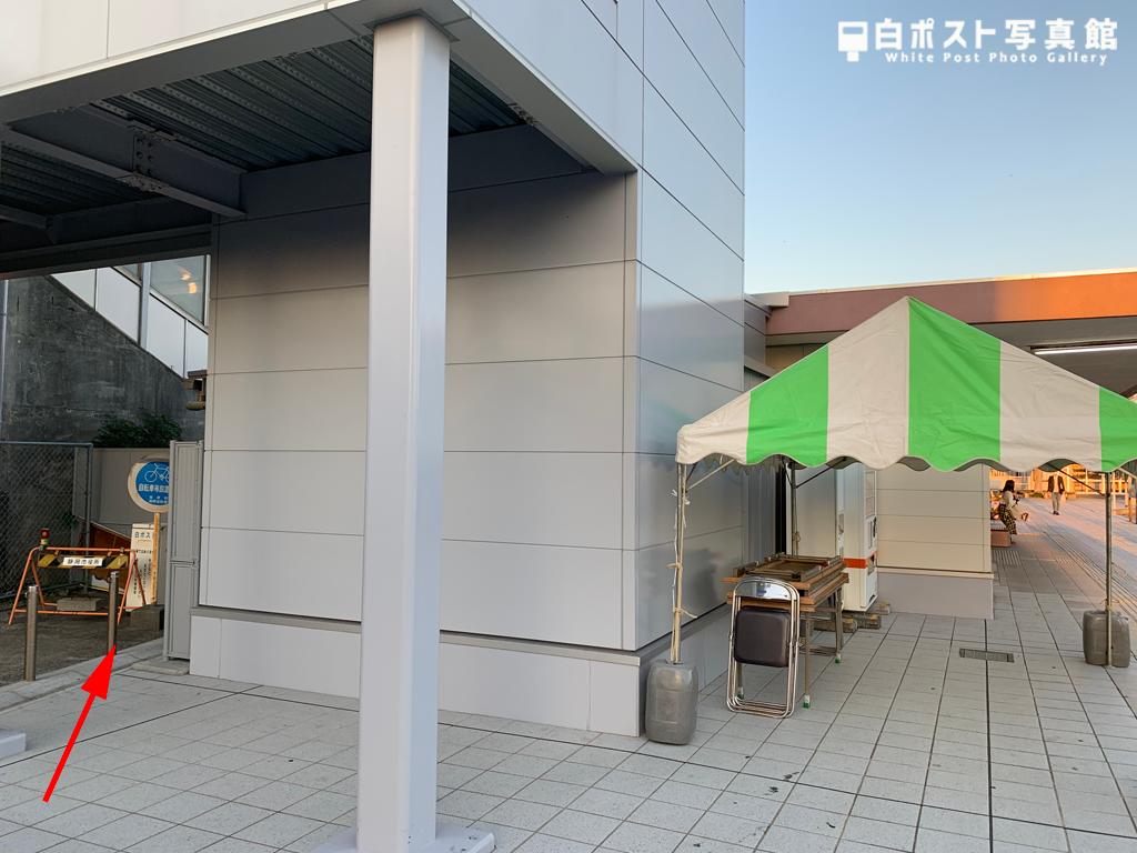 新蒲原駅舎と白ポストの位置関係図
