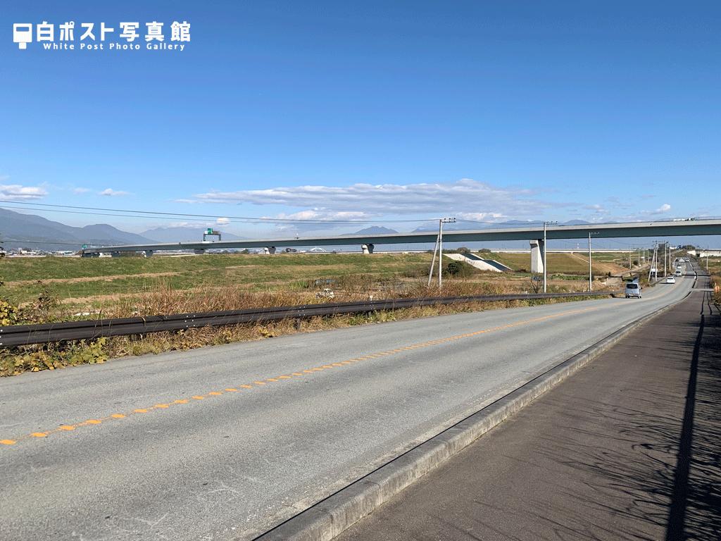 富士川を越える中部横断自動車道