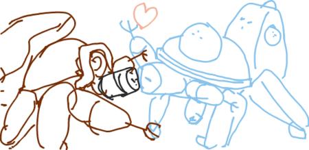 はてなハイカーさん、ロボット同士のキスシーンのイラスト欲しい!
