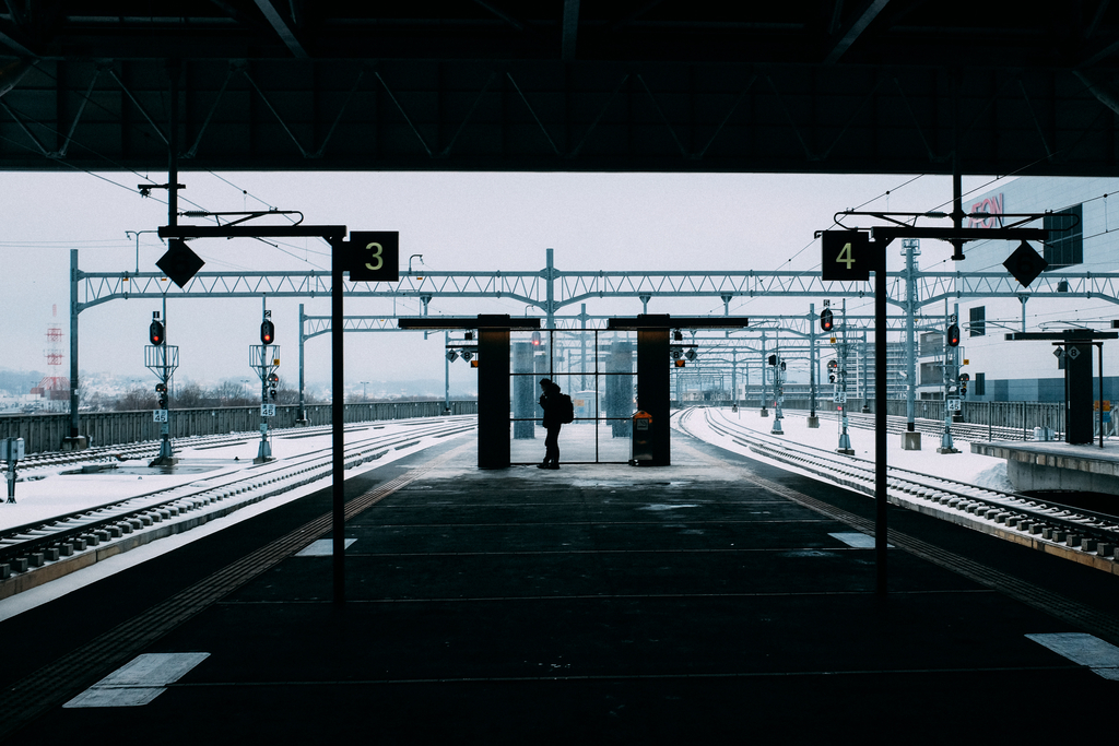 AIRDO20周年ひがし北海道フリーパス_鉄道の旅_旭川駅にて