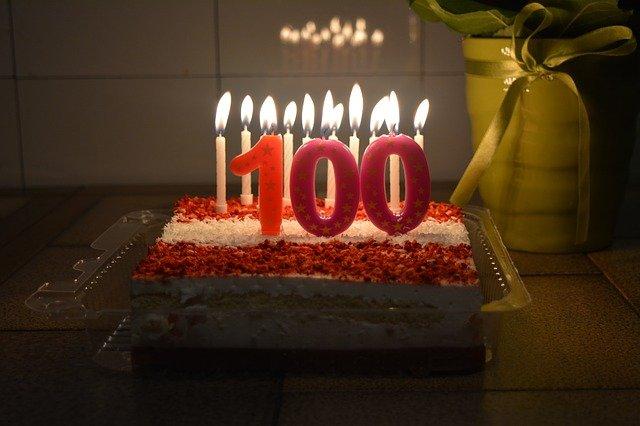 100歳バースデーケーキ