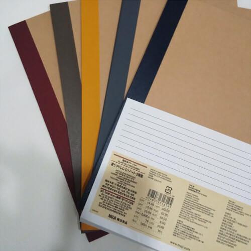 植林木ペーパー裏うつりしにくいノート5冊組B5・30枚