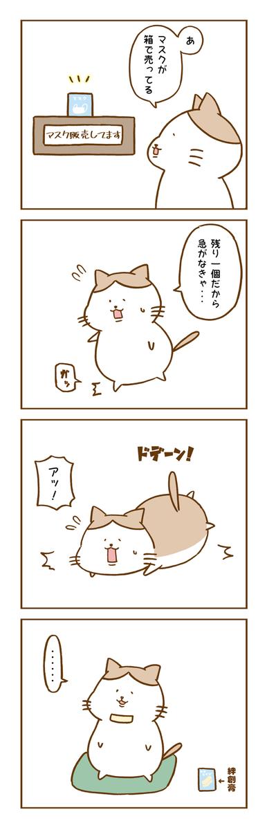 マスクと猫