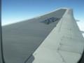 ANA機(神戸→那覇)内から翼を望む