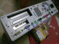 TOYOMURA SF-1815背面と取り付けた玄人志向 USB2.0N-LPPCI