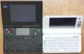 IBM PalmTop PC110とKOHJINSHA PMを液晶&キーボード面から