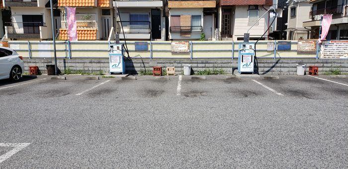 洗車場の拭き取り場
