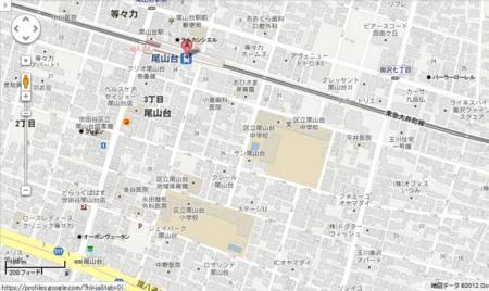 尾山台ケーキツアー作戦地図