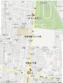 三鷹の森ケーキツアー地図