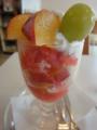 フルーツパーラーフクナガのプラムパフェ