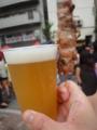 麻布十番納涼まつりで飛騨地鶏と飛騨ホワイトビール