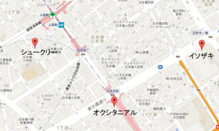 人形町~水天宮ケーキツアー地図